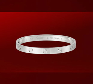 Cartier 1:1 Grade Love Bracelet White Gold+Original Bracelet box